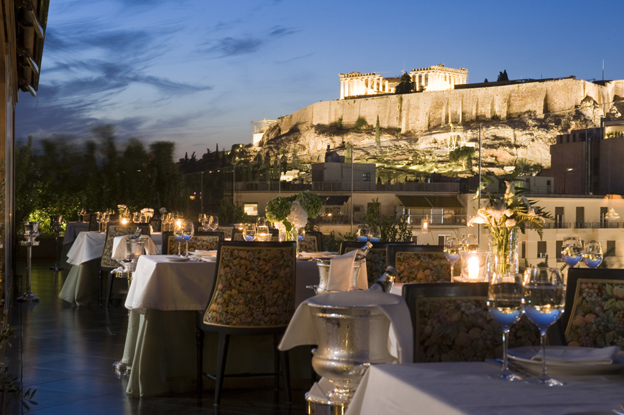 Roof Garden by Night Acropolis
